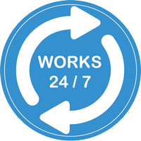 Works 24/7
